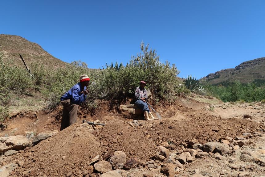 Men's Group Discussion, Malealea, Lesotho, Southern Africa, Malealea Development Trust