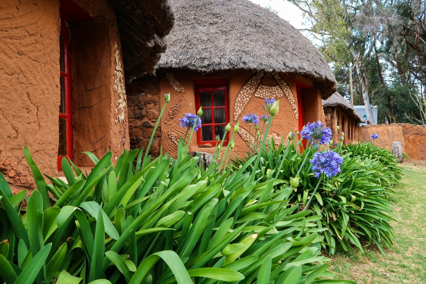Basotho Huts at the Malealea Lodge, photo by Kelly Benning