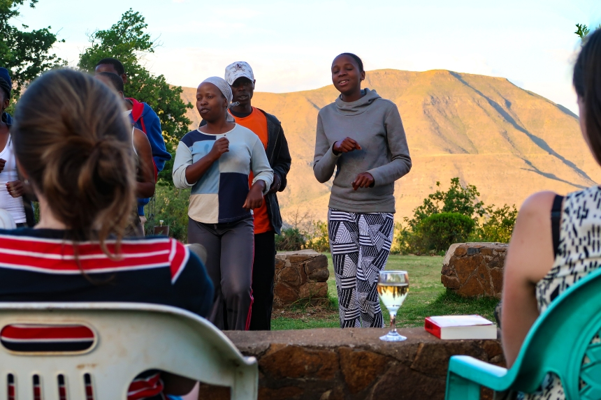 Wine, Music, and the Mountains in Malealea, photo by Kelly Benning