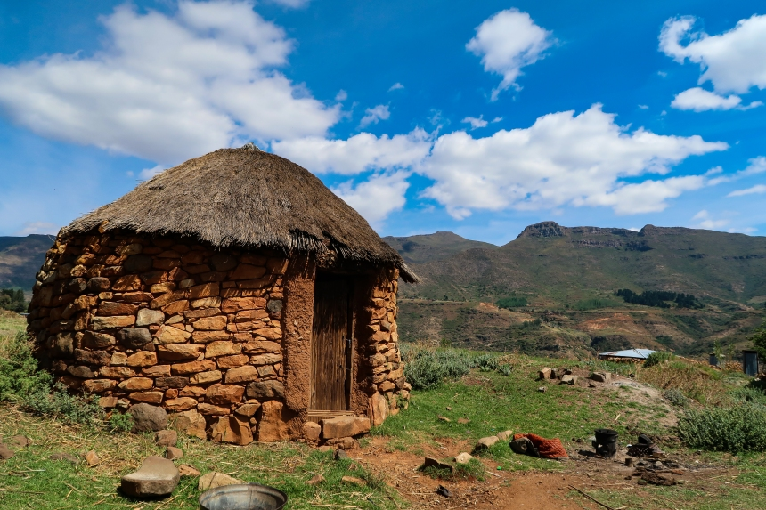 A Hut in Malealea, photo by Kelly Benning