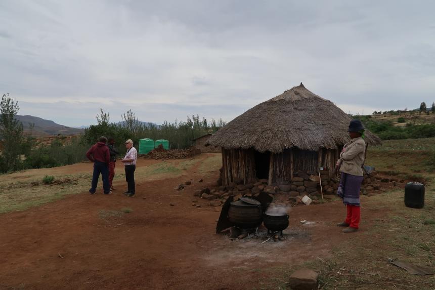 a rural hut in Malealea, Lesotho, Southern Africa