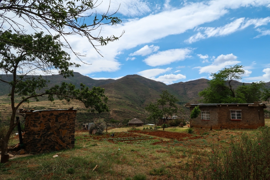 village homes and garden plots in Ha Raboletsi, Roma, Lesotho, Southern Africa, photo by Kelly Benning