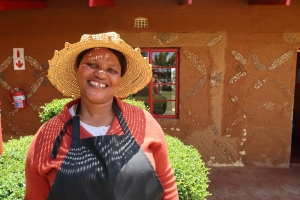 portrait of Sanah Khomo, the Malealea Lodge's Housekeeping Manager