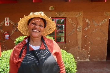portrait of Sanah Khomo, the Malealea Lodge's Housekeeping Manager