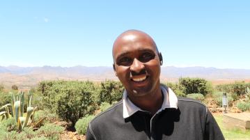 portrait of Bob Mhale, Malealea Lodge Assistant Manager
