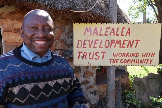 portrait of Tello Moeketse - Malealea Development Trust Project Director